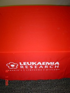 Leukaemia Research table cloth