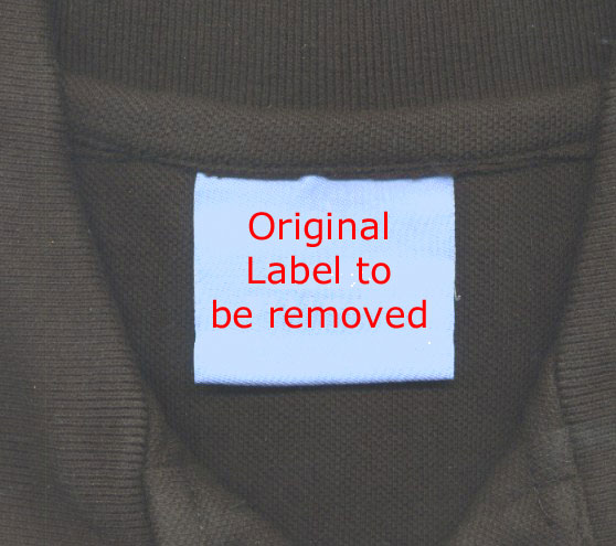 original woven neck label