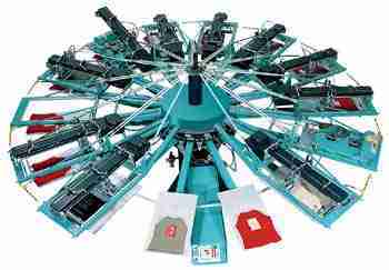 octopus screen printing machine