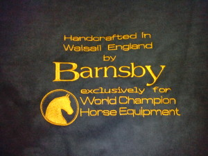 Saddle cover made to order for Barnsby