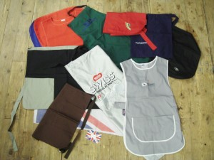 Collection of bespoke aprons and tabards